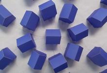 Blue house mandala